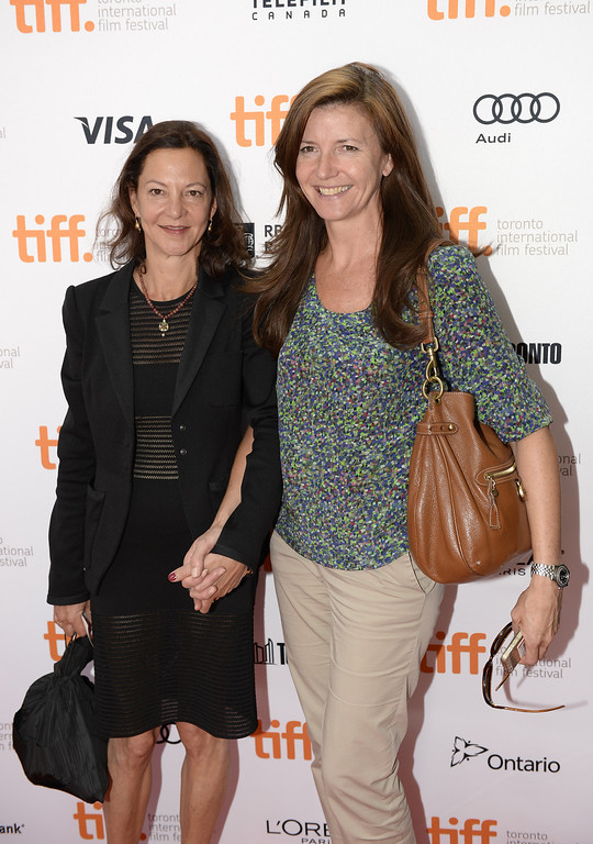 """. Gabrielle Tana (L) and Christine Langan arrive at the\""""Philomena\"""" Premiere during the 2013 Toronto International Film Festival at the Princess of Wales Theatre on September 8, 2013 in Toronto, Canada.  (Photo by Aaron Harris/Getty Images)"""