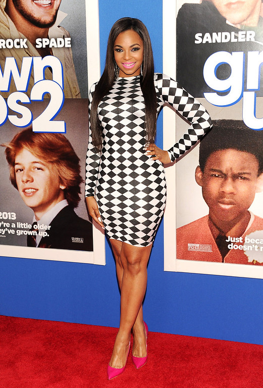 ". Actress and singer Ashanti Douglas attends the premiere of ""Grown Ups 2\"" at the AMC Loews Lincoln Square on Wednesday, July 10, 2013 in New York. (Photo by Evan Agostini/Invision/AP)"