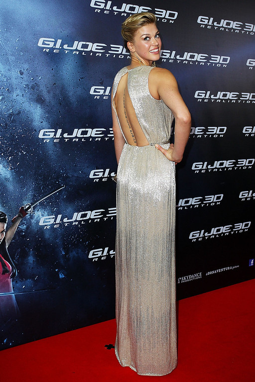 ". Adrianne Palicki arrives at the ""G.I.Joe: Retaliation\"" - Australian Premiere at Event Cinemas George Street on March 14, 2013 in Sydney, Australia.  (Photo by Lisa Maree Williams/Getty Images)"