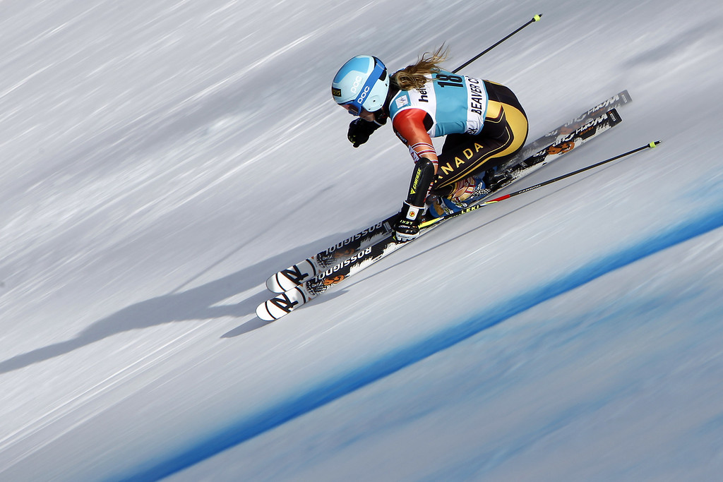 . Marie-Pier Prefontaine of Canada competes during the Audi FIS Alpine Ski World Cup Women\'s Giant Slalom on December 01, 2013 in Beaver Creek, Colorado. (Photo by Alexis Boichard/Agence Zoom/Getty Images)