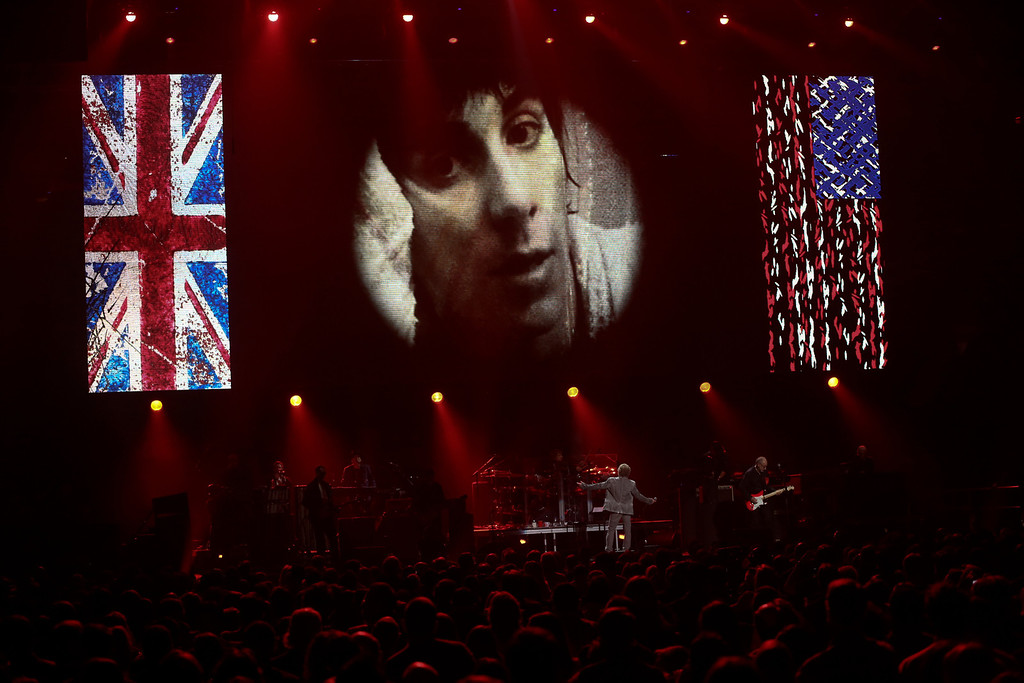 . The Who perform at the 12-12-12 benefit concert for victims of Hurricane Sandy, at Madison Square Garden in New York, Dec. 12, 2012. The concert features a lineup of artists spanning five decades. (Damon Winter/The New York Times)