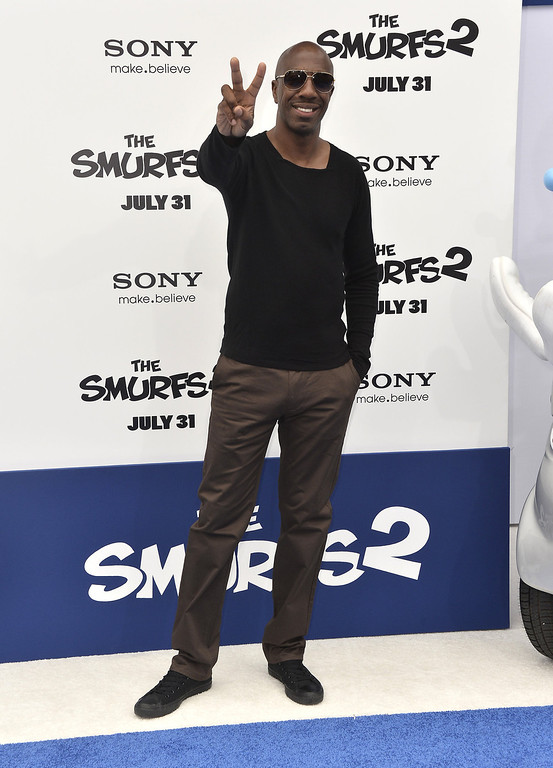 """. Actor J.B. Smoove  premiere of Columbia Pictures\' \""""Smurfs 2\"""" at Regency Village Theatre on July 28, 2013 in Westwood, California.  (Photo by Frazer Harrison/Getty Images)"""