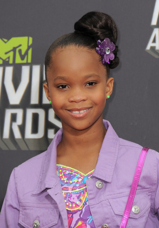 . Quvenzhane Wallis arrives at the MTV Movie Awards in Sony Pictures Studio Lot in Culver City, Calif., on Sunday April 14, 2013. (Photo by Jordan Strauss/Invision/AP)