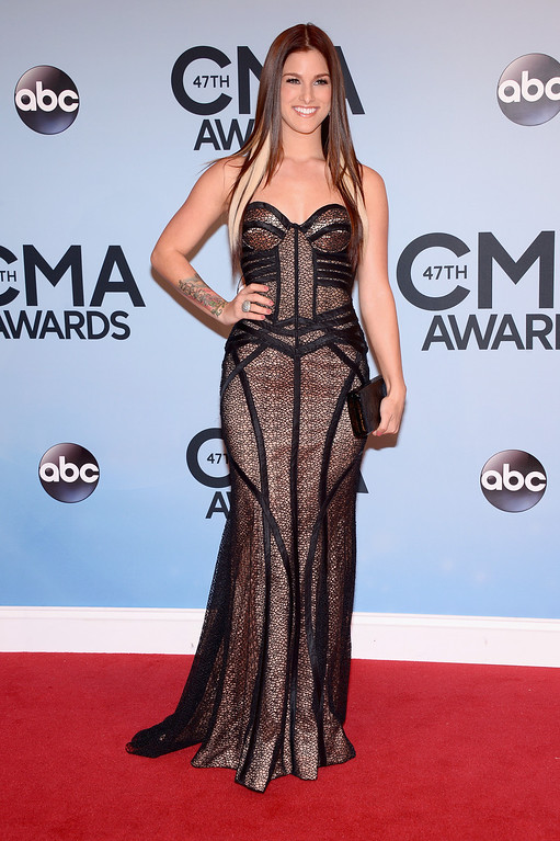 . NASHVILLE, TN - NOVEMBER 06:  Musician Cassadee Pope attends the 47th annual CMA Awards at the Bridgestone Arena on November 6, 2013 in Nashville, Tennessee.  (Photo by Michael Loccisano/Getty Images)