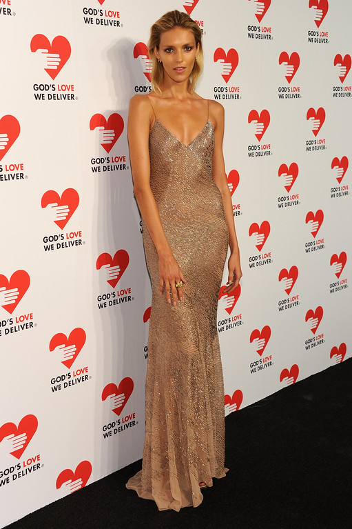 . NEW YORK, NY - OCTOBER 16:  Model Anja Rubik attends God\'s Love We Deliver 2013 Golden Heart Awards Celebration at Spring Studios on October 16, 2013 in New York City.  (Photo by Dimitrios Kambouris/Getty Images for Michael Kors)