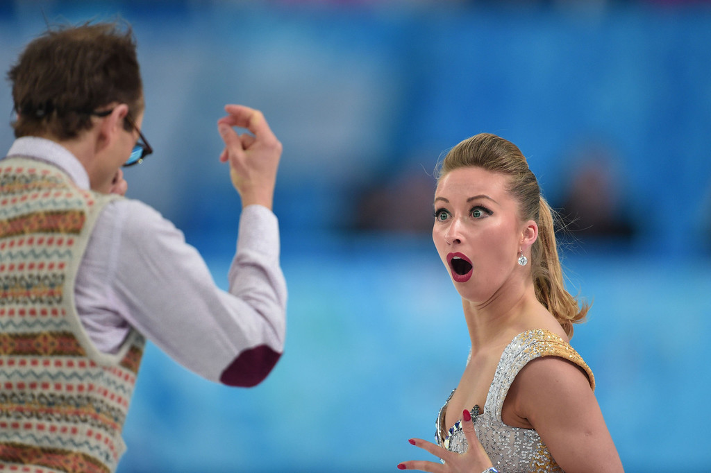 . Germany\'s Nelli Zhiganshina and Germany\'s Alexander Gazsi perform in the Figure Skating Ice Dance Short Dance at the Iceberg Skating Palace during the Sochi Winter Olympics on February 16, 2014.        DAMIEN MEYER/AFP/Getty Images