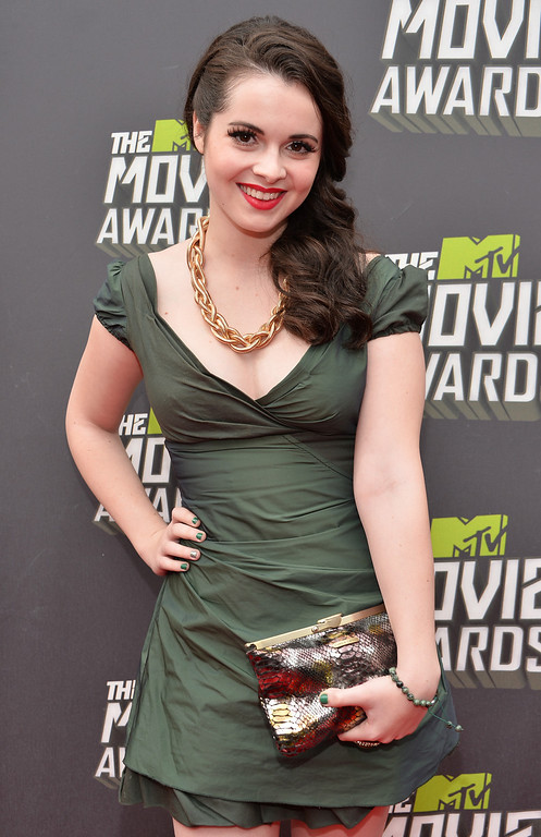 . Actress Vanessa Marano arrives at the 2013 MTV Movie Awards at Sony Pictures Studios on April 14, 2013 in Culver City, California.  (Photo by Alberto E. Rodriguez/Getty Images)