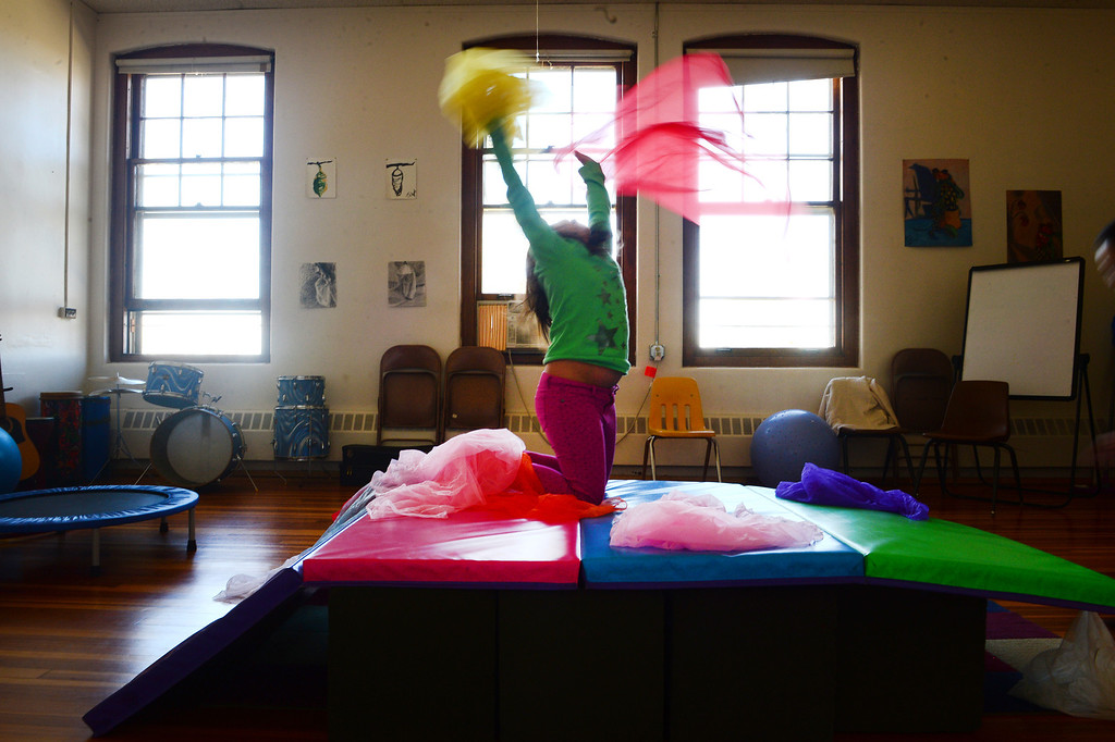 . Children participate in music and dance therapy at Mount Saint Vincent\'s Home. Mount Saint Vincent is a treatment center for children who have suffered physical and sexual abuse, trauma and mental illness. Helen H. Richardson/ The Denver Post