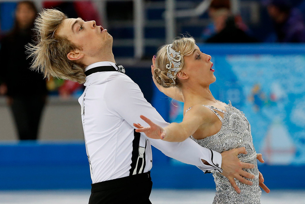 . Penny Coomes and Nicholas Buckland of Great Britain perform during the Figure Skating Ice Dance Short Dance event at the  Iceberg Palace during the Sochi 2014 Olympic Games in Sochi, Russia,16 February 2014.  EPA/BARBARA WALTON