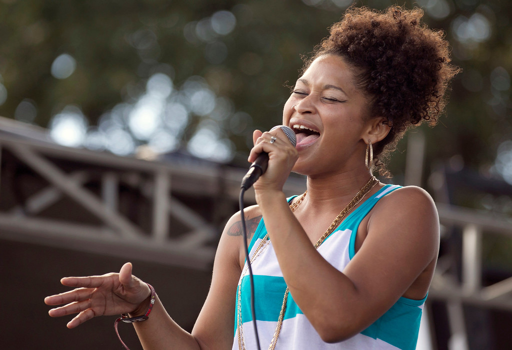 . Latasha Lee & the Black Ties perform at the Austin City Limits Music Festival at Zilker Park in Austin, Texas, on Friday Oct. 4, 2013. (AP Photo/Austin American-Statesman, Jay Janner)