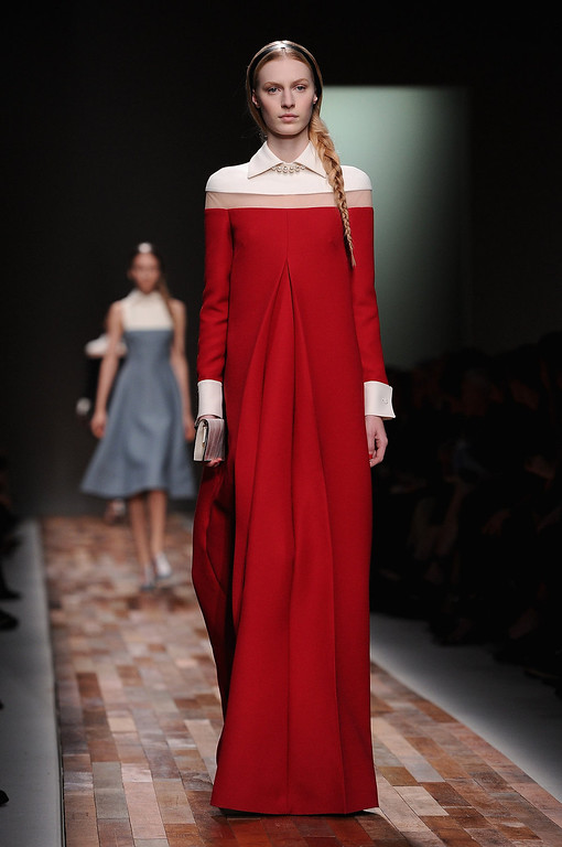 . A model walks the runway during Valentino Fall/Winter 2013 Ready-to-Wear show as part of Paris Fashion Week on March 5, 2013 in Paris, France.  (Photo by Pascal Le Segretain/Getty Images)