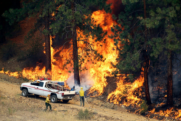 PHOTOS: Wildfires continue in Washington State