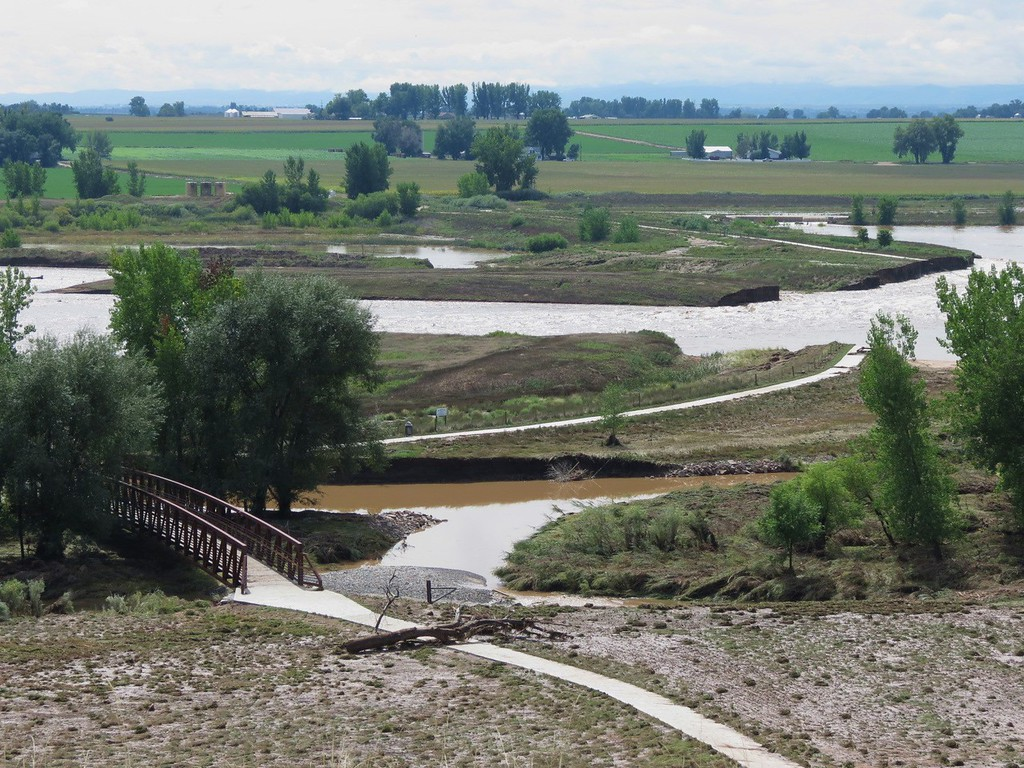 . Washed out part of the St Vrain Greenway at Sandstone Ranch in Longmont, Colorado. Photo by Nancy Dadisman