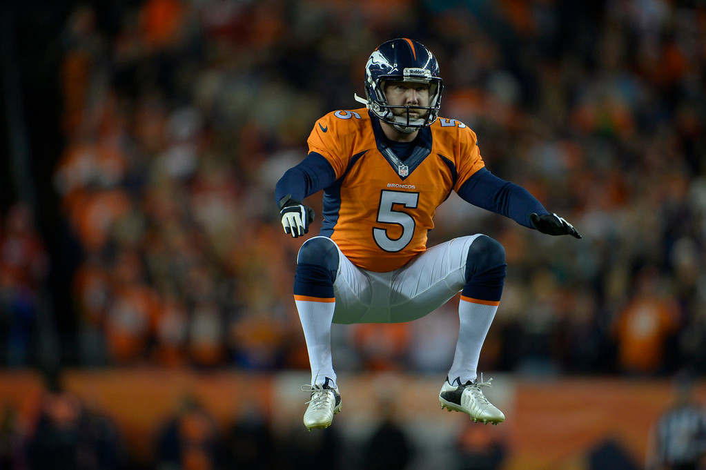 . Denver Broncos kicker Matt Prater (5) warms up for a field goal in the first quarter. The Denver Broncos take on the Kansas City Chiefs at Sports Authority Field at Mile High in Denver on November 17, 2013. (Photo by Joe Amon/The Denver Post)