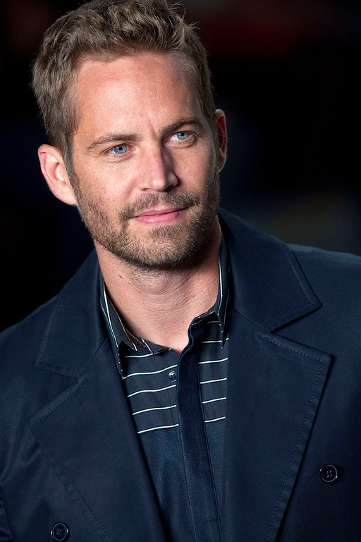 . File-This March 21, 2013 file photo shows actor Paul Walker wearing a creation from the Colcci summer collection at Sao Paulo Fashion Week in Sao Paulo, Brazil.  (AP Photo/Andre Penner, File)