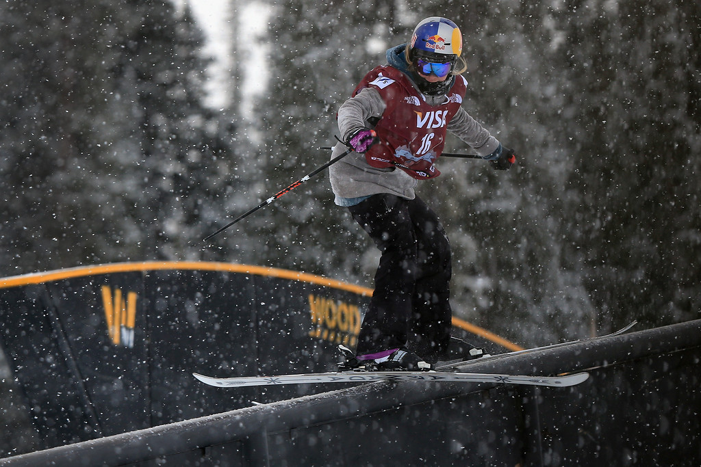 . Lisa Zimmerman of Germany in action during qualifying for the women\'s FIS Slopestyle Ski World Cup at the U.S. Snowboarding and Freeskiing Grand Prix on December 20, 2013 in Copper Mountain, Colorado.  (Photo by Doug Pensinger/Getty Images)