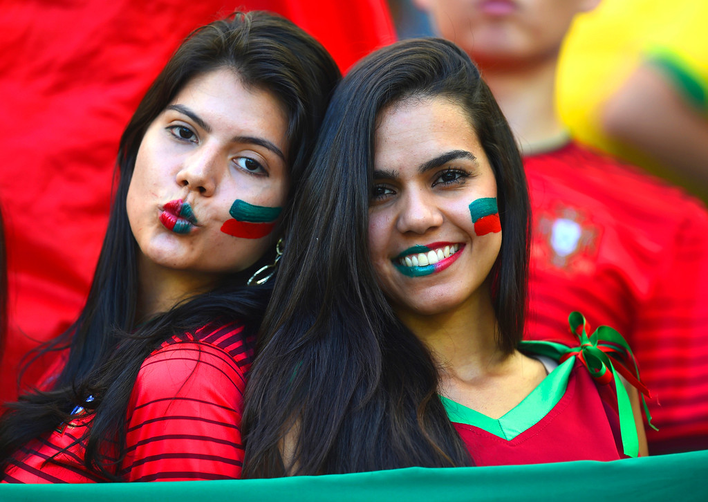 . Portugal fans look on prior to the 2014 FIFA World Cup Brazil Group G match between Germany and Portugal at Arena Fonte Nova on June 16, 2014 in Salvador, Brazil.  (Photo by Stu Forster/Getty Images)