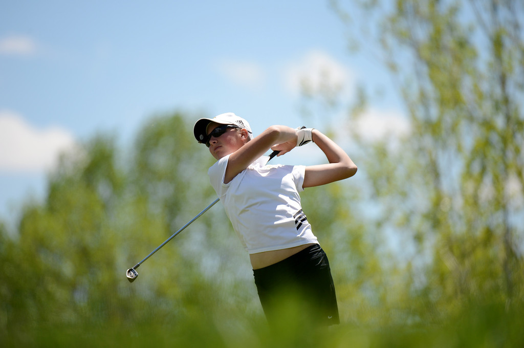 . ENGLEWOOD, CO. - MAY 21 : Jennifer Kupcho of Jefferson Academy High School is in State 4A Girl\'s Golf Championship at Broken Tree Golf Course. Englewood, Colorado. May 21, 2013. (Photo By Hyoung Chang/The Denver Post)