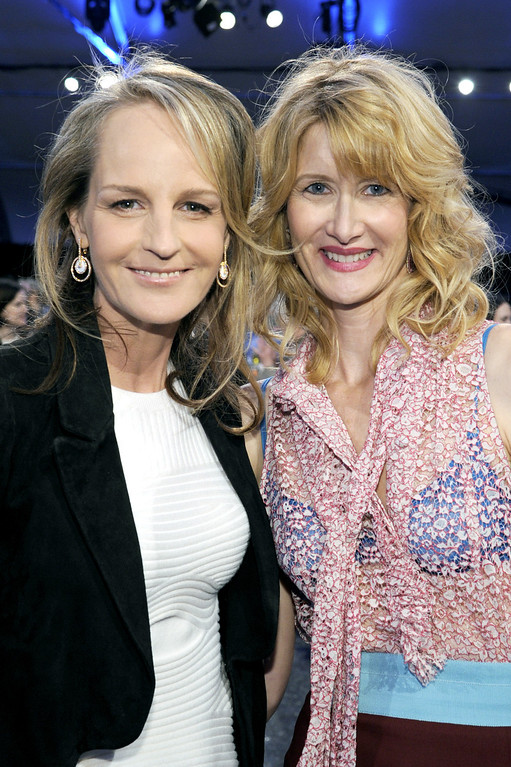 . SANTA MONICA, CA - FEBRUARY 23:  Actresses Helen Hunt (L) and Laura Dern attend the 2013 Film Independent Spirit Awards at Santa Monica Beach on February 23, 2013 in Santa Monica, California.  (Photo by Kevork Djansezian/Getty Images)