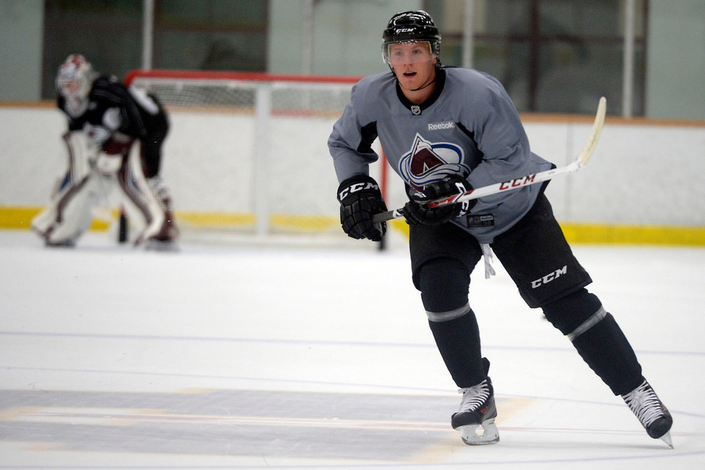 . Colorado Avalanche LW Gabriel Landeskog (92) skates up ice during practice September 9, 2013 at Family Sports Ice Arena. (Photo By John Leyba/The Denver Post)