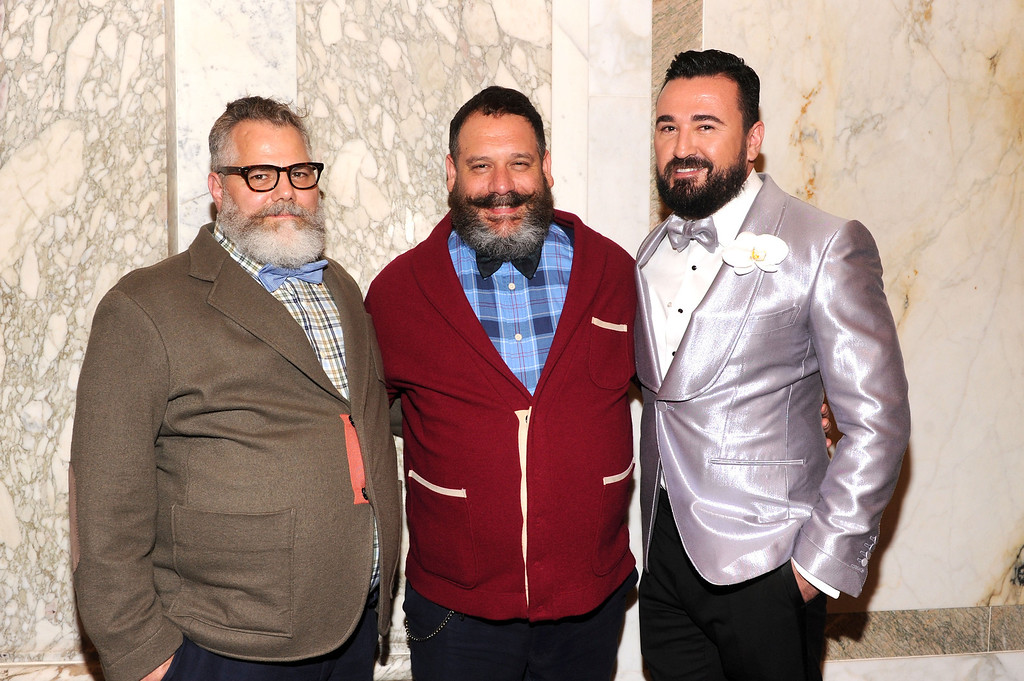 . NEW YORK, NY - JUNE 13:  (L-R) Jeffrey Costello, Robert Tagliapietra and President of Kiehl\'s USA Chris Salgardo attend the 4th Annual amfAR Inspiration Gala New York at The Plaza Hotel on June 13, 2013 in New York City.  (Photo by Jamie McCarthy/Getty Images)