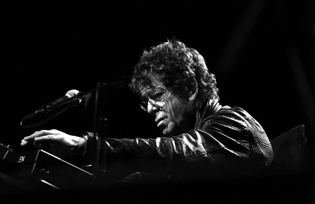 . American musician Lou Reed performs on stage with the Metal Machine Trio as part of the Vivid LIVE festival at the Sydney Opera House on May 30, 2010 in Sydney, Australia.  (Photo by Mark Metcalfe/Getty Images)