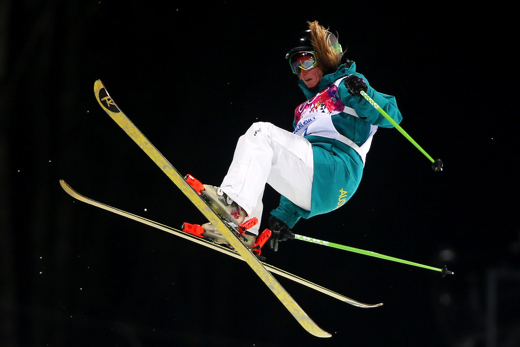 . Amy Sheehan of Australia competes in the Freestyle Skiing Ladies\' Ski Halfpipe Finals on day thirteen of the 2014 Winter Olympics at Rosa Khutor Extreme Park on February 20, 2014 in Sochi, Russia.  (Photo by Mike Ehrmann/Getty Images)