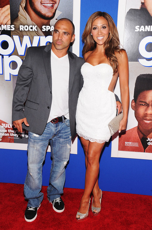 ". TV personalities Joe Gorga (L) and Melissa Gorga attend the ""Grown Ups 2\"" New York Premiere at AMC Lincoln Square Theater on July 10, 2013 in New York City.  (Photo by Jamie McCarthy/Getty Images)"