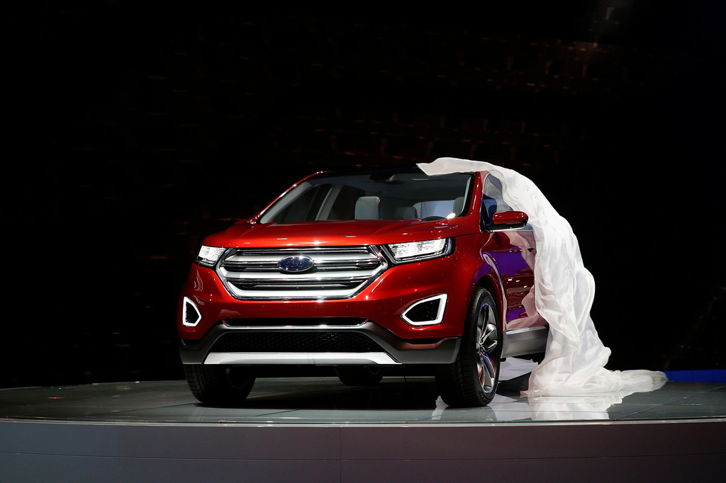 . The new Ford Edge concept vehicle is introduced at the Los Angeles Auto Show on Wednesday, Nov. 20, 2013, in Los Angeles. (AP Photo/Jae C. Hong)