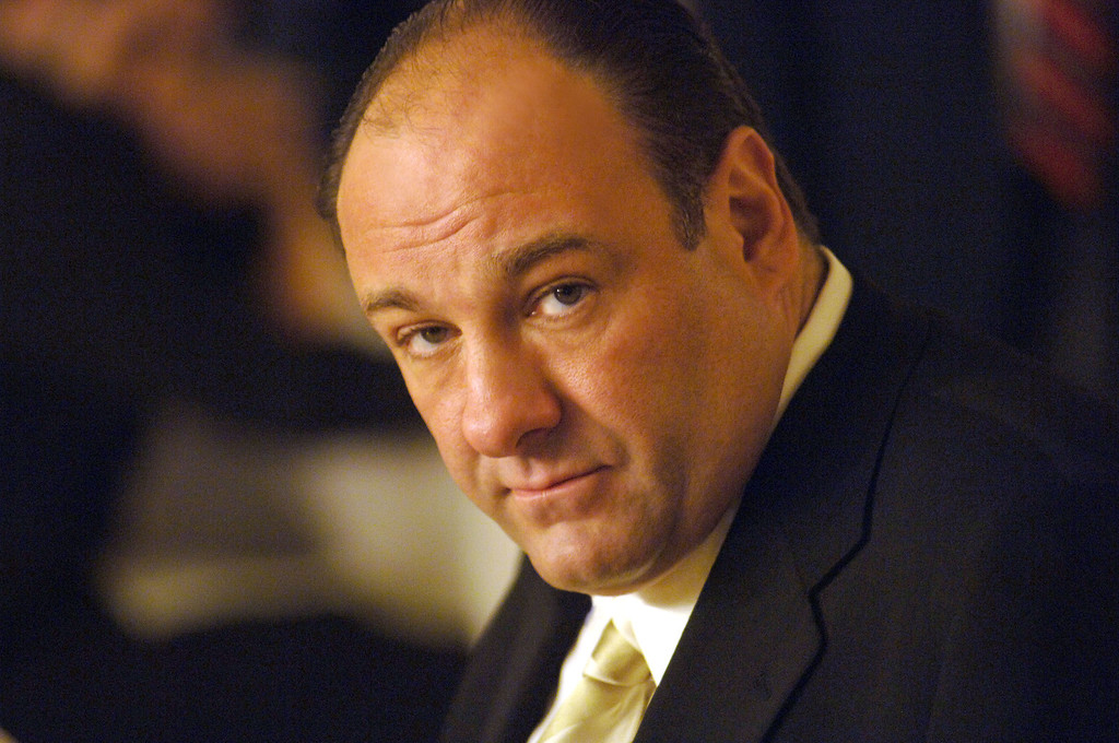 ". This undated publicity photo released by HBO, shows actor James Gandolfini in his role as Tony Soprano, head of the New Jersey crime family portrayed in HBO\'s ""The Sopranos.\"" (AP Photo/HBO, Barry Wetcher, File)"