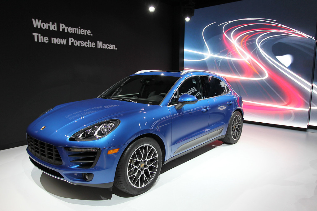 . A Porsche Macan S is displayed during media preview days at the 2013 Los Angeles Auto Show on November 20, 2013 in Los Angeles, California. The LA Auto Show was founded in 1907 and is one of the largest with more than 20 world debuts expected. The show will be open to the public November 22 through December 1.  (Photo by David McNew/Getty Images)