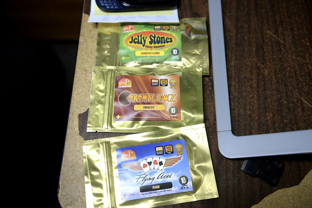 . A selection of edibles from Dr. J\'s that were formerly available on the medical side of BotanaCare. Robin Hackett, co-owner, said she recently placed a large order for edible cannabis treats from Dr. J\'s, but was shocked when customers called to complain that the brownies had no effect. She sent a sample to an independent lab where the supposed 100mg THC treats registered near zero milligrams of THC. (AAron Ontiveroz, The Denver Post)