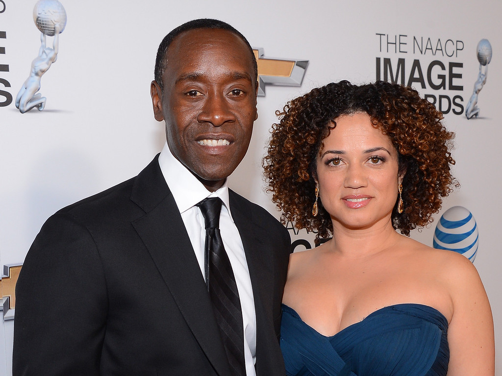 . LOS ANGELES, CA - FEBRUARY 01: Actor Don Cheadle and partner, actress Brigid Coulter attend the 44th NAACP Image Awards at The Shrine Auditorium on February 1, 2013 in Los Angeles, California.  (Photo by Mark Davis/Getty Images for NAACP Image Awards)