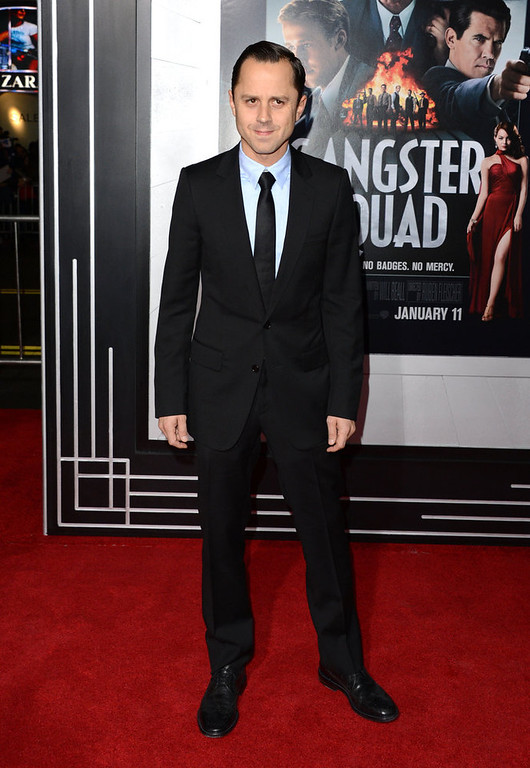 """. Actor Giovanni Ribisi arrives at Warner Bros. Pictures\' \""""Gangster Squad\"""" premiere at Grauman\'s Chinese Theatre on January 7, 2013 in Hollywood, California.  (Photo by Jason Merritt/Getty Images)"""