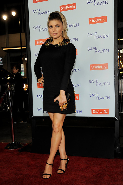 . Singer Fergie poses at the U.S. premiere of the film, Tuesday, Feb. 5, 2013, in the Hollywood section of Los Angeles. (Photo by Chris Pizzello/Invision/AP)