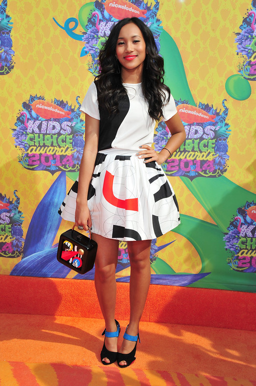 . Actress Sydney Park attends Nickelodeon\'s 27th Annual Kids\' Choice Awards held at USC Galen Center on March 29, 2014 in Los Angeles, California.  (Photo by Frazer Harrison/Getty Images)
