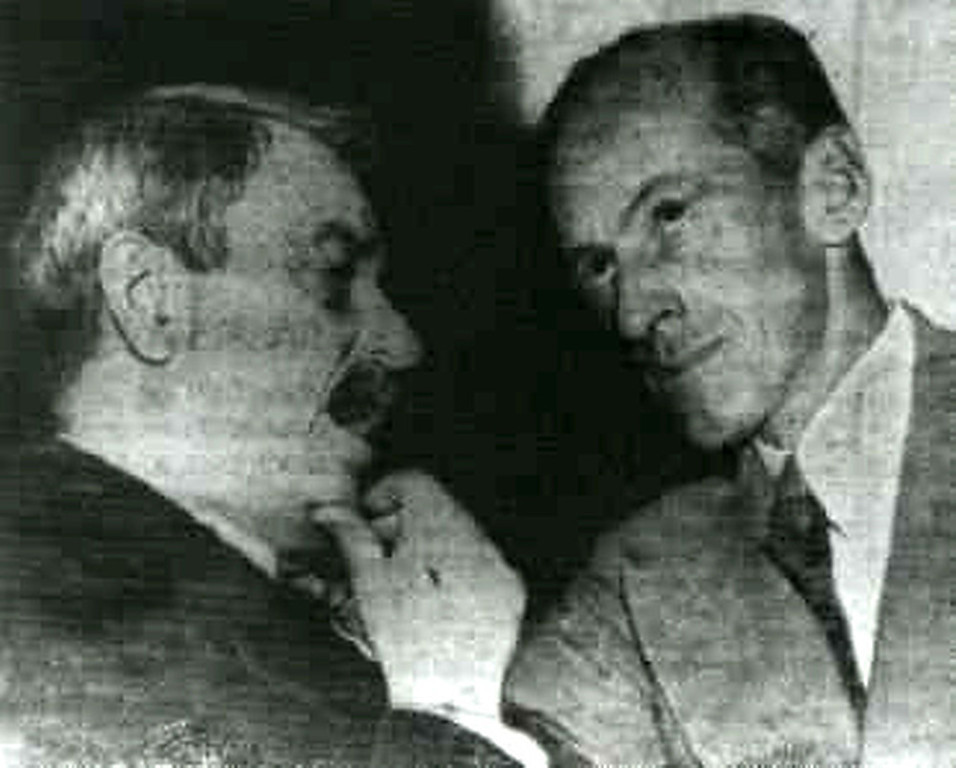 . 1950:  It is believed that this doctored photograph contributed to Senator Millard Tydings\' electoral defeat in 1950. The photo of Tydings (right) conversing with Earl Browder (left), a leader of the American Communist party, was meant to suggest that Tydings had communist sympathies.  SOURCE: http://www.cs.dartmouth.edu/farid/research/digitaltampering/