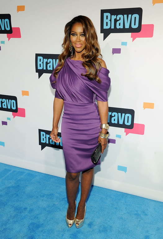 . Kenya Moore attends the 2013 Bravo New York Upfront at Pillars 37 Studios on April 3, 2013 in New York City.  (Photo by Craig Barritt/Getty Images)