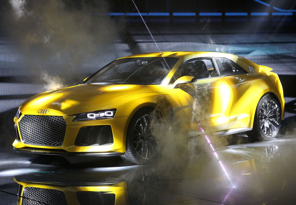 . An Audi quattro sport concept hybrid car is presented during the media day of the IAA (Internationale Automobil Ausstellung) international motor show in Frankfurt am Main, western Germany, on September 10, 2013. According to the organiser, more than 1,000 exhibitors from 35 countries will present their products during the show running from September 12 to 22, 2013.     AFP PHOTO / DANIEL ROLAND/AFP/Getty Images