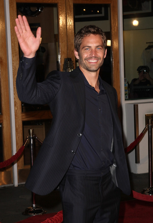 """. Actor Paul Walker at the premiere Universal\'s \""""Fast & Furious\"""" held at  Universal CityWalk Theaters on March 12, 2009 in Universal City, California.  (Photo by Jason Merritt/Getty Images)"""