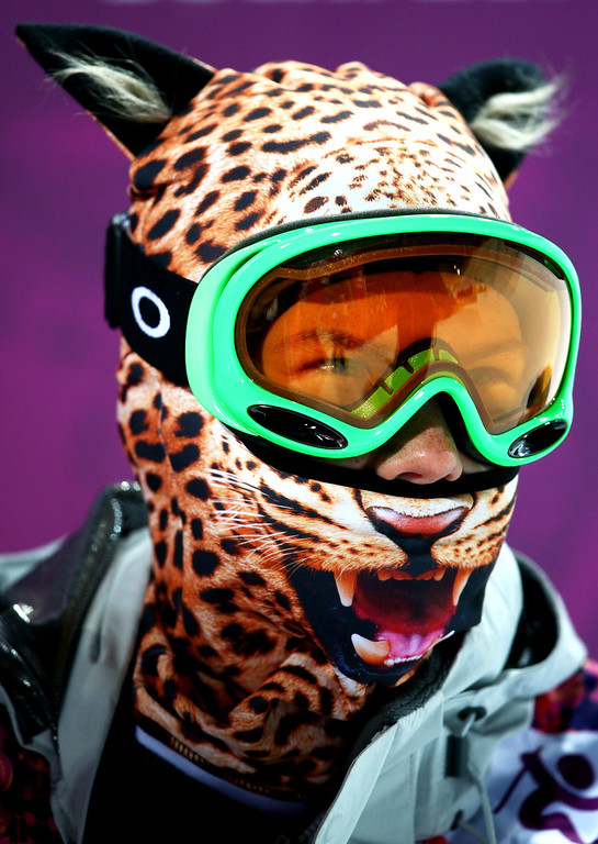 . Elizavetta Chesnokova of Russia looks on in the Freestyle Skiing Ladies\' Ski Halfpipe Qualification on day thirteen of the 2014 Winter Olympics at Rosa Khutor Extreme Park on February 20, 2014 in Sochi, Russia.  (Photo by Cameron Spencer/Getty Images)