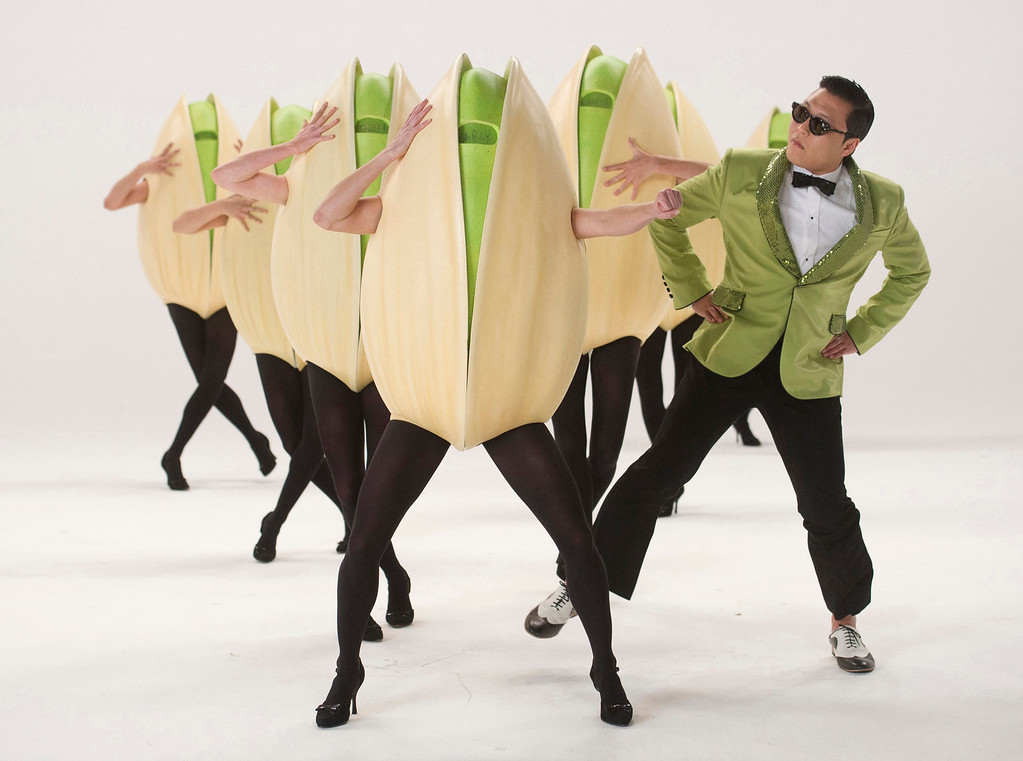. South Korean rapper Psy performs during the filming of a Super Bowl commercial for Wonderful Pistachios in North Hollywood, California, January 8, 2013, in this picture provided by Insider Images. Picture taken January 8, 2013. REUTERS/Susan Goldman/Insider Images/Handout