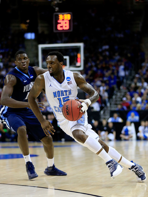 . KANSAS CITY, MO - MARCH 22: P.J. Hairston #15 of the North Carolina Tar Heels drives against the Villanova Wildcats in the first half during the second round of the 2013 NCAA Men\'s Basketball Tournament at the Sprint Center on March 22, 2013 in Kansas City, Missouri.  (Photo by Jamie Squire/Getty Images)