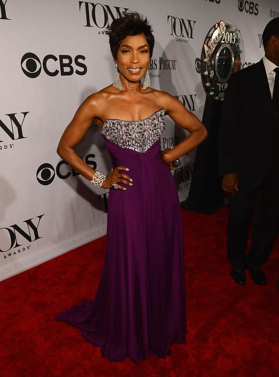 . Actress Angela Bassett attends The 67th Annual Tony Awards at Radio City Music Hall on June 9, 2013 in New York City.  (Photo by Larry Busacca/Getty Images for Tony Awards Productions)
