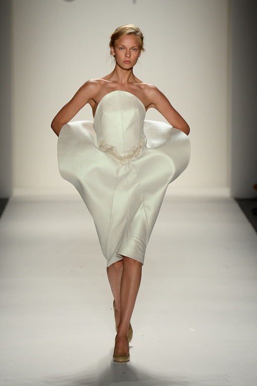 . A model walks the runway during the Supima Spring 2014 fashion show at Mercedes-Benz Fashion Week Spring 2014 - Official Coverage - Best Of Runway Day 1 on September 5, 2013 in New York City.  (Photo by Frazer Harrison/Getty Images for Mercedes-Benz)