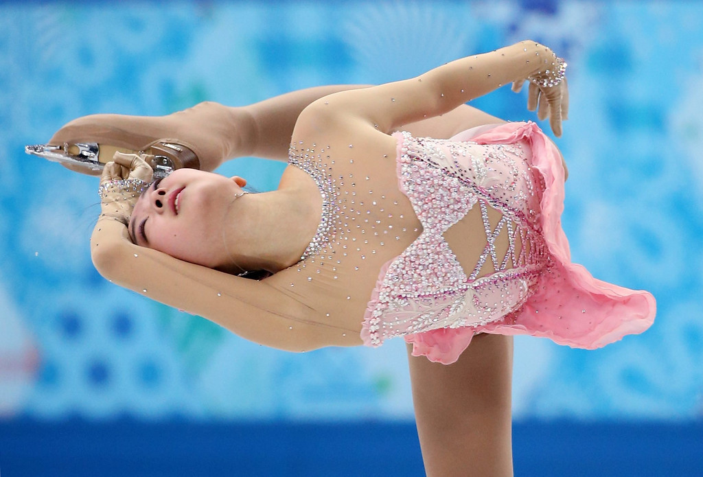 . Zijun Li of China performs in the Figure Skating Women\'s Free Skating event at Iceberg Skating Palace during the Sochi 2014 Olympic Games, Sochi, Russia, 20 February 2014.  EPA/HOW HWEE YOUNG