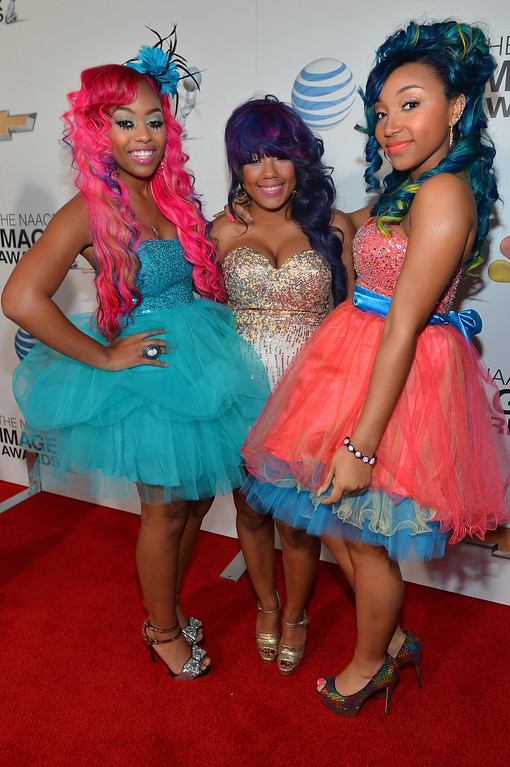 . LOS ANGELES, CA - FEBRUARY 01:  (L-R) Bahja Rodriguez, Breaunna Womack and Zonnique Pullins of the OMG Girlz attend the 44th NAACP Image Awards at The Shrine Auditorium on February 1, 2013 in Los Angeles, California.  (Photo by Alberto E. Rodriguez/Getty Images for NAACP Image Awards)