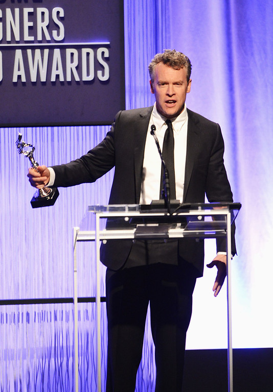 . Presenter Tate Donovan onstage during the 15th Annual Costume Designers Guild Awards with presenting sponsor Lacoste at The Beverly Hilton Hotel on February 19, 2013 in Beverly Hills, California.  (Photo by Jason Merritt/Getty Images for CDG)