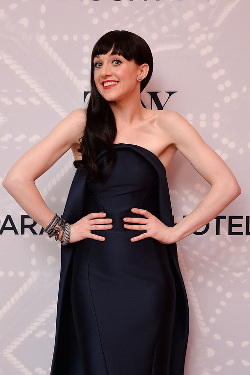 ". Lena Hall, winner of the award for Best Performance by an Actress in a Featured Role in a Musical for ""Hedwig and the Angry Inch\"", poses in the Paramount Hotel Winners\' Room at the 68th Annual Tony Awards on June 8, 2014 in New York City.  (Photo by Mike Coppola/Getty Images for Tony Awards Productions)"
