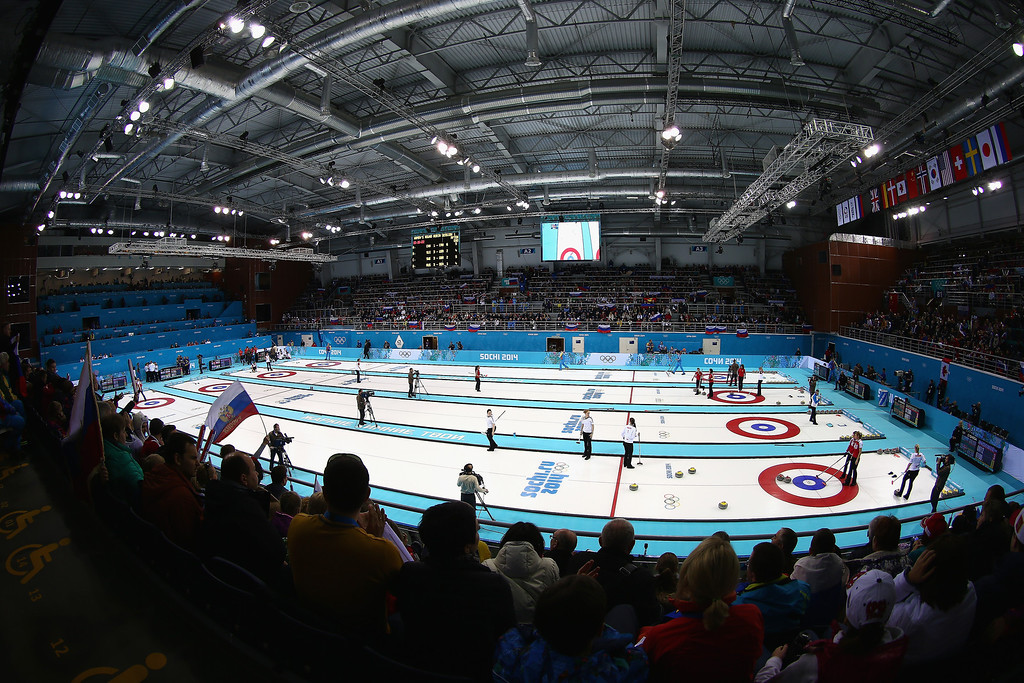 . A general view during day 3 of the Sochi 2014 Winter Olympics at Ice Cube Curling Center on February 10, 2014 in Sochi, Russia.  (Photo by Clive Mason/Getty Images)
